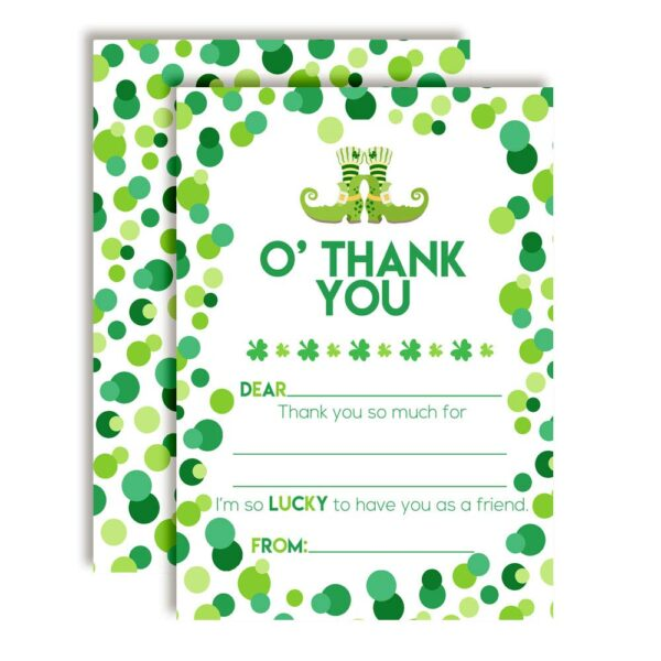 Wee Bit O' Fun St. Patrick's Day Thank You Cards