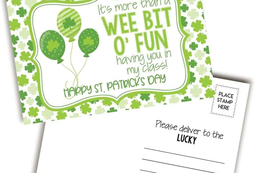 """Wee Bit O'Fun"" St. Patrick's Day Postcards"