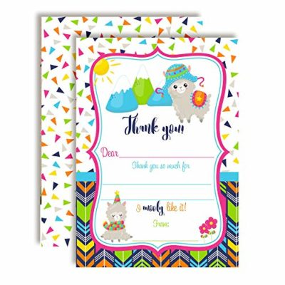 Alpaca Birthday Thank You Cards