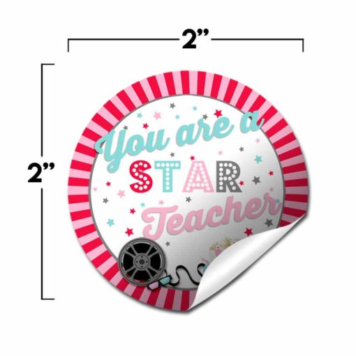 Movie Night Teacher Appreciation Stickers