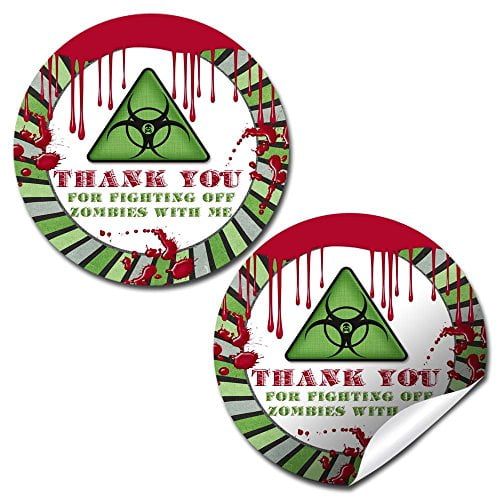 Zombie Infection Party Stickers