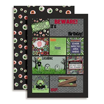 zombie infection birthday party invitation